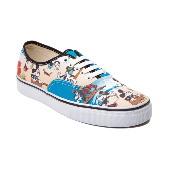 rodillo Santuario Tigre  Vans Shoes | Vans Disney Hawaiian Mickey Mouse Skate Shoes | Poshmark
